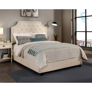 Republic Design House Audrey Upholstered Tufted Bed with Nail Head Trim