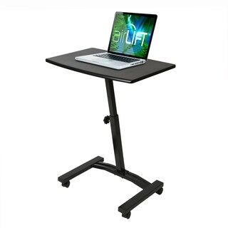 "AIRLIFT Mobile Laptop Computer Desk Cart, Adjustable Height Range 20.5"" to 33"""