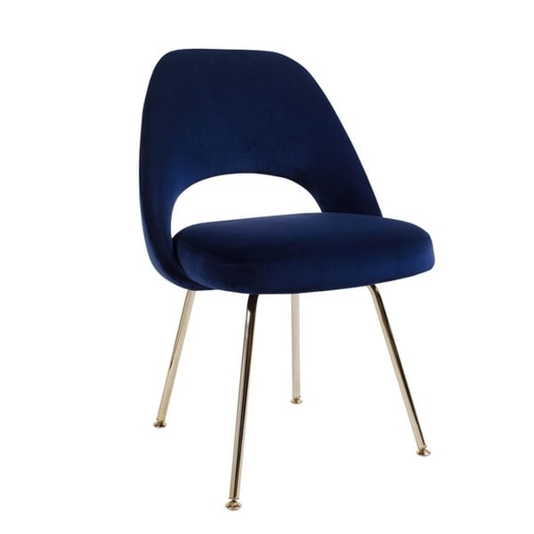 Shop Sand Blue Velvet Chair Gold Legs On Sale Ships To Canada