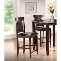 Best Master Furniture Espresso Counter Height Chairs (Set of 2)