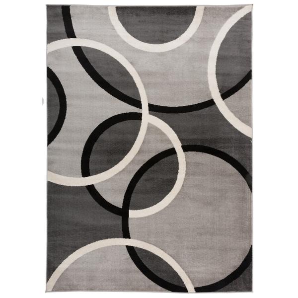 "Modern Abstract Circles Area Rug Gray - 5'3"" x 7'3"""