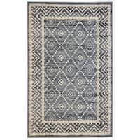 Lillian Home Grey (5'x8') Rug - 5' x 8'