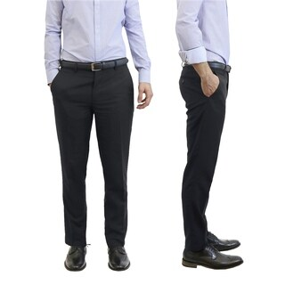 Galaxy By Harvic Men's Slim Fit Casual Dress Pants