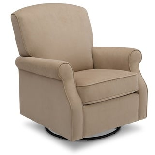 Delta Children Stella Glider Swivel Rocker Chair, Toast Velvet (2 options available)