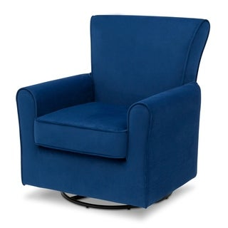 Delta Children Elena Glider Swivel Rocker Chair, Blue Velvet (3 options available)