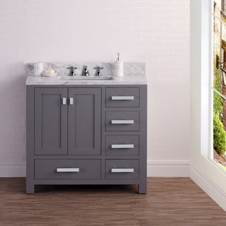 36 Inch Wide Cashmere Grey Single Sink Bathroom Vanity From The Madison Collection