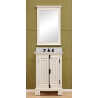 """24"""" Antique White Single Sink Bathroom Vanity From The Greenwich Collection - N/A"""