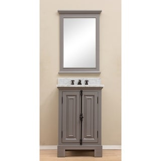 "24"" Grey Single Sink Bathroom Vanity From The Greenwich Collection"