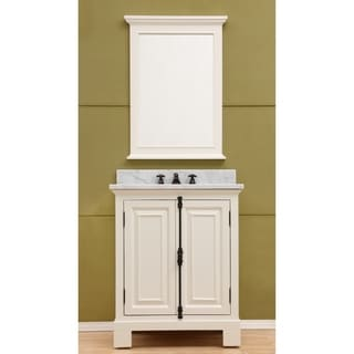 "30"" Antique White Single Sink Bathroom Vanity From The Greenwich Collection"