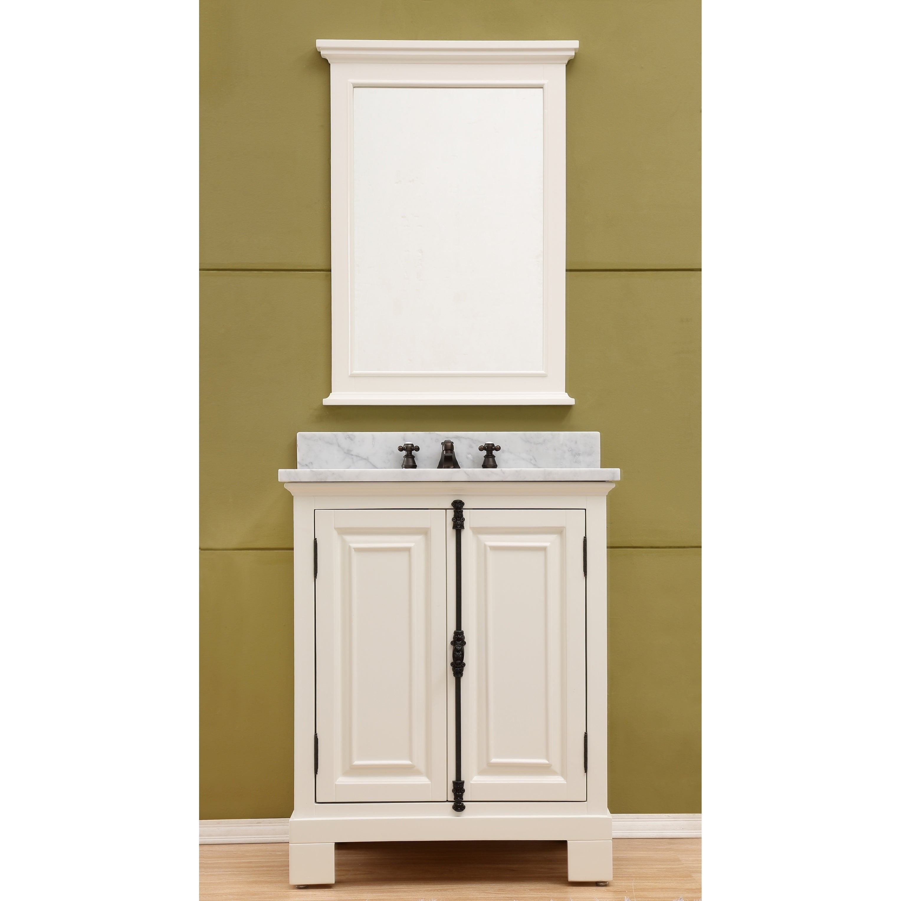 Shop 30 Antique White Single Sink Bathroom Vanity From The