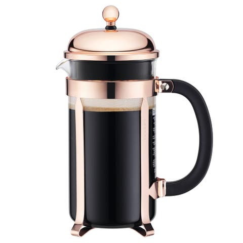 Bodum Chambord French Press Coffee Maker, 8 Cup, 1.0L, 34oz, Copper
