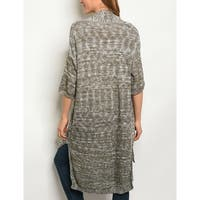 JED Women's Marled Cotton & Acrylic Sweater Cardigan