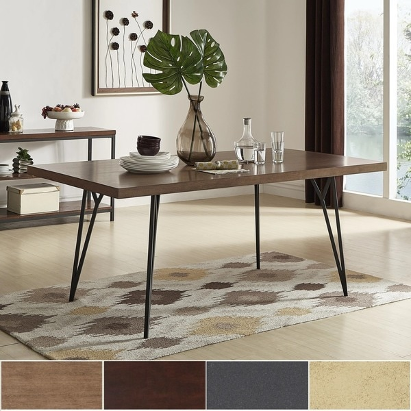 10 Superb Square Dining Table Ideas For A Contemporary: Shop Marlee Eiffel Metal Leg Dining Table By INSPIRE Q