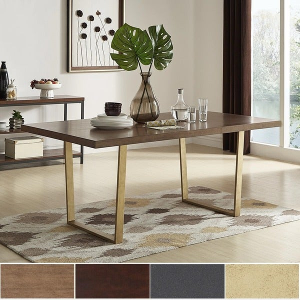 Marlee Metal Sled Base Dining Table by iNSPIRE Q Modern