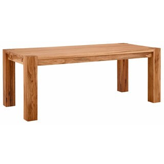 Matrix 87-inch Wild Oak Dining Table, Natural