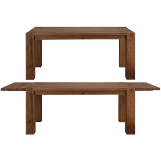 Matrix Wild Oak Dining Table with 2 extension leaves, Smoked