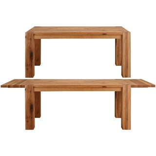Matrix Wild Oak Dining Table with 2 extension leaves, Natural