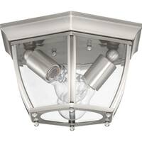 New Haven Two-Light Outdoor Flush Mount