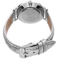 August Steiner Ladies Classic Quartz Silver-tone Leather Strap Watch