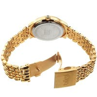 Burgi Ladies Swarovski Crystal Pebble Style Gold-tone Bracelet Watch