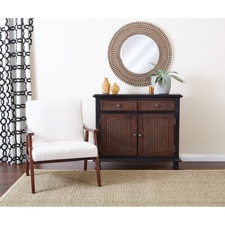 INSPIRED by Bassett Burton Storage Cabinet with Black Wood Finish