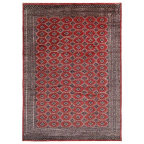 Handmade One-of-a-Kind Bokhara Wool Rug (Pakistan) - 10' x 14'