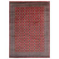 Handmade Herat Oriental Pakistani Hand-knotted Bokhara Wool Rug - 10' x 14' (Pakistan)