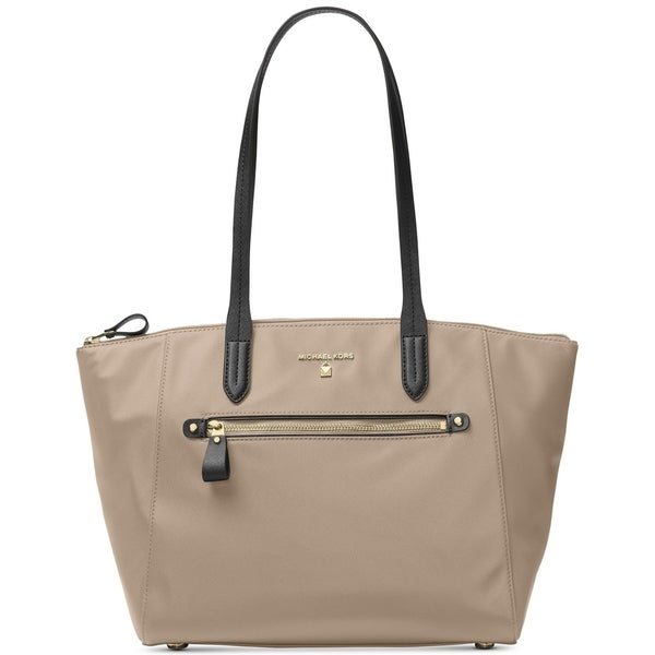 4f05709bc40f Shop MICHAEL Michael Kors Kelsey Medium Top-Zip Tote Truffle - Free ...