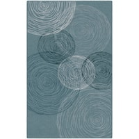 "Brumlow Mills Blue Pinwheels Nylon Contemporary Area Rug - 7'6"" x 10'"