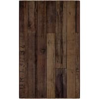 "Brumlow Mills Rustic Farmhouse Wood Antique Wooden Texture Area Rug - 7'6""x10'"