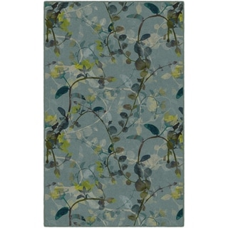 """Brumlow Mills Catalina Blue Floral Area Rug - 7'6""""x10'"""