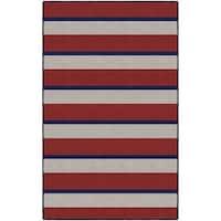 "Brumlow Mills Multicolor Nylon Wide Nautical Stripe Area Rug - Multi - 7'6""x10'"