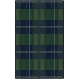 Brumlow Mills Green/Blue Traditional Plaid Area Rug (7'6 x 10')
