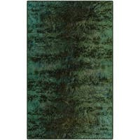 "Brumlow Mills Everest Modern Abstract Green Nylon Area Rug - 7'6""x10'"