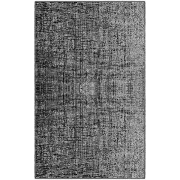 "Brumlow Mills Contemporary Linen Grey Nylon Area Rug - 7'6""x10'"