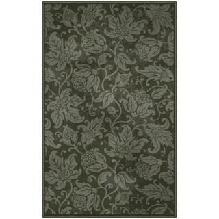 "Brumlow Mills Greta Muted Green Floral Area Rug - 7'6""x10'"
