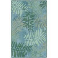 Brumlow Mills Palms Tropical Leaf Blue Nylon Area Rug - 5' x 8'
