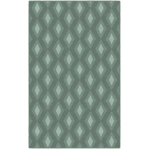 Brumlow Mills Green Diamonds Nylon Simple Trellis Area Rug - 5' x 8'