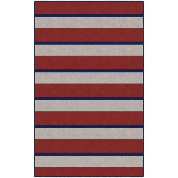 Brumlow Mills Multicolored Nylon Nautical Stripe Area Rug - Multi - 5' x 8'