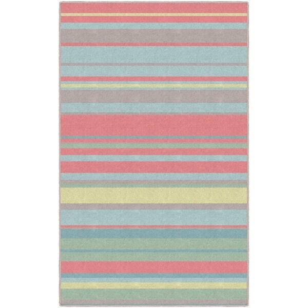 Brumlow Mills Sherbet Stripes Traditional Striped Area Rug - Multi - 5' x 8'