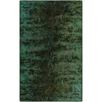 Brumlow Mills Everest Green Modern Abstract Area Rug - 5' x 8'