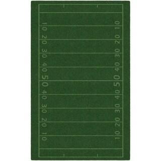 Brumlow Mills Football Field Green Accent Rug - 5' x 8'