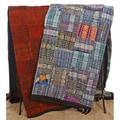Handmade Blue or Rust Guatemalan Patchwork Quilt (Guatemala)