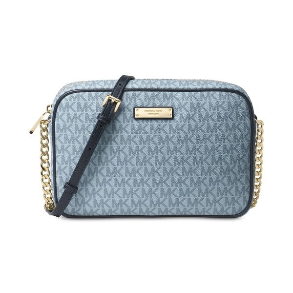 e86b84790816 Shop MICHAEL Michael Kors Jet Set Item East West Crossbody Pale Blue ...