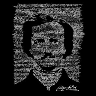 LA Pop Art Boy's Raglan Baseball Word Art T-shirt - EDGAR ALLEN POE - THE RAVEN