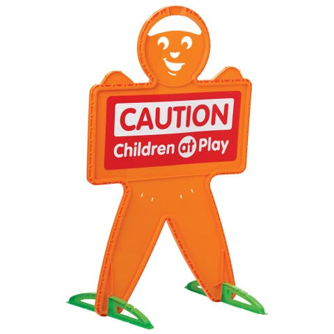 American Plastic Toys Safety Man Caution Sign 8-Pack - Orange