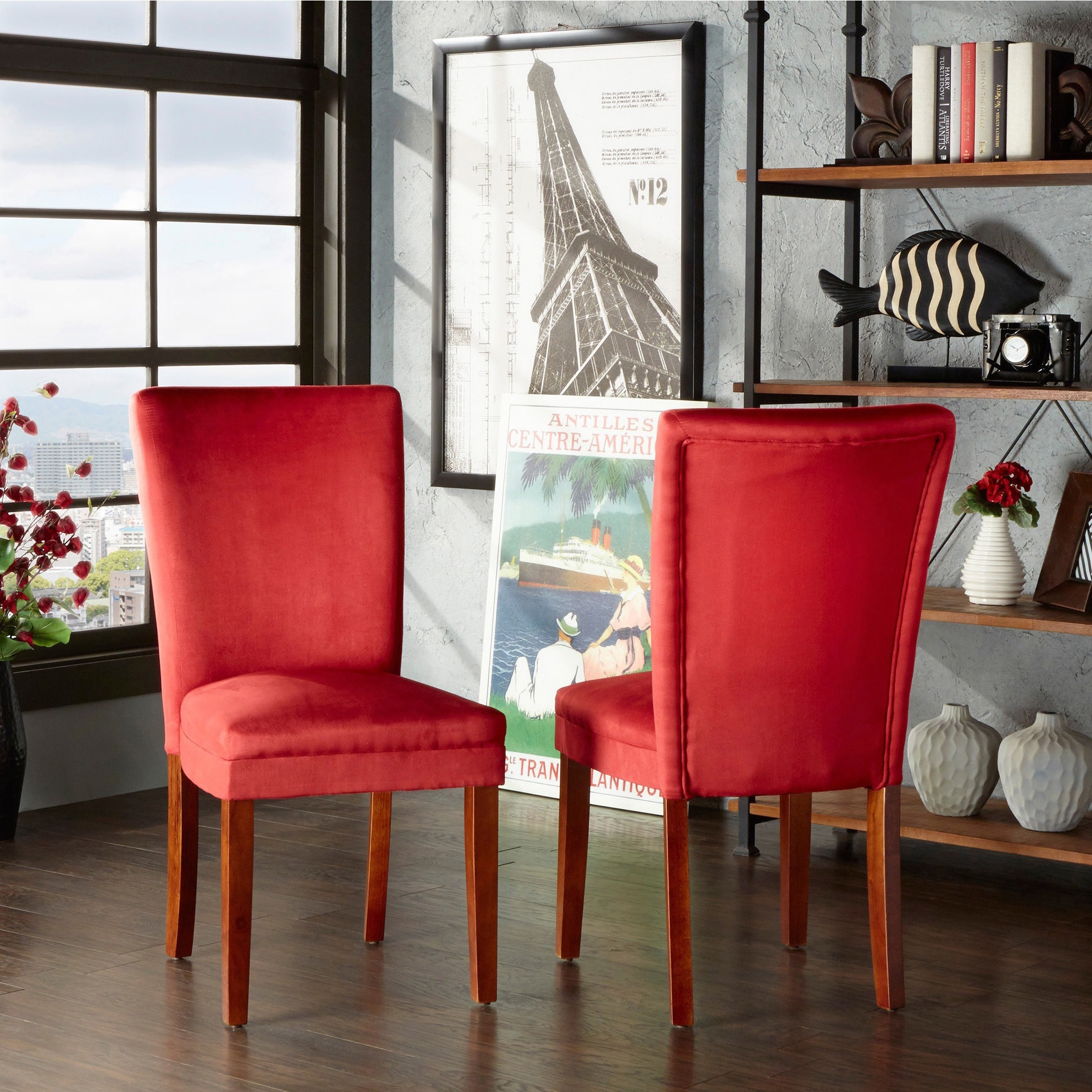 Buy red kitchen dining room chairs online at overstock com our best dining room bar furniture deals