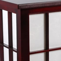 Handmade Hokkaido End Table Lamp with Drawer (China)