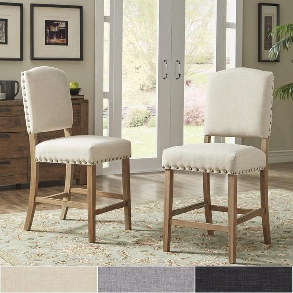 Shop Benchwright Premium Nailhead Upholstered Counter