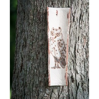 Handpainted Roof Tile with Owl